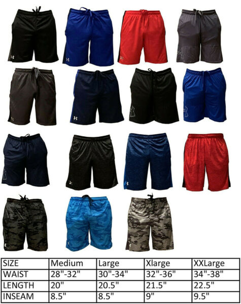 Mens New Under Armour Athletic Gym Muscle Logo Mesh Basketball Shorts M 2XL