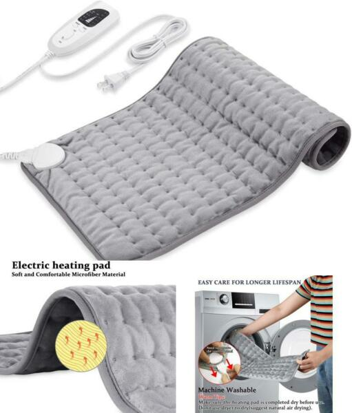 Weighted Heating Pad for Pain Relief 4 Heat Settings with Auto Shutoff 12 quot;x24quot; $25.27