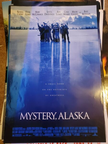 MYSTERY ALASKA Original Movie Poster Cast 27x40 Double Sided Russell Crowe