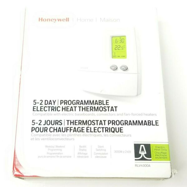 Honeywell 5 2 Day Programmable Electrical Heat Thermostat RLV4300A $36.01