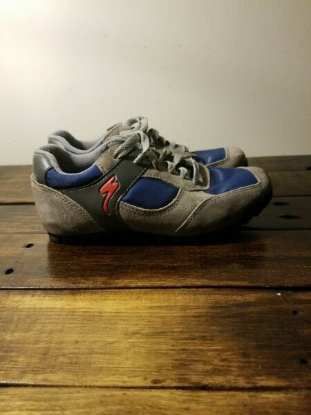 Specialized Mountain Bike Shoes Womens SIZE 5 SIZE 35 Gray And Blue Cycling... $16.00