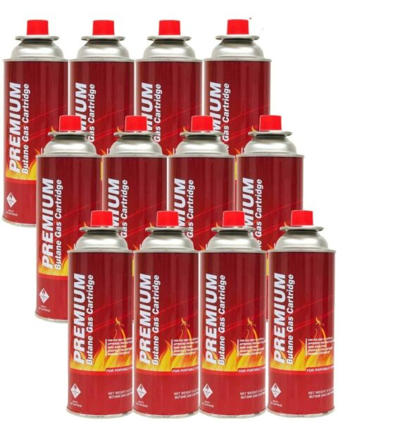 New Butane Fuel Gas Canister Portable Camp Camping Stove Cartridge 1 24 Cans lot $59.99
