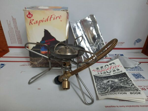 MSR RapidFire Backpacking Camp Stove with Instructions Isobutane stove