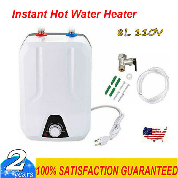 Instant Hot Water Heater Electric Tank On Demand House Shower Sink 110V 8L US $92.08