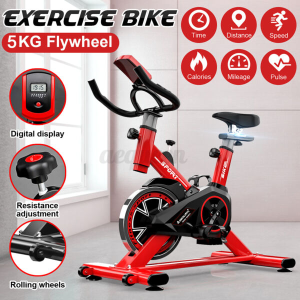 Home Bicycle Cycling Fitness Exercise Stationary Bike Cardio Workout Gym Trainer $179.00