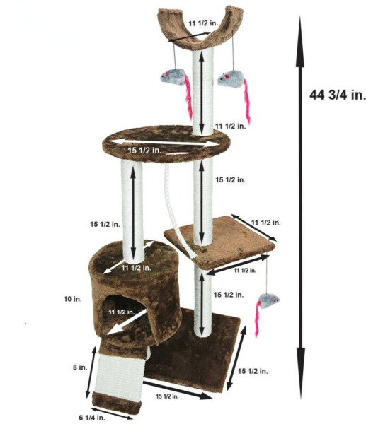 Cat Tree Tower Pet Furniture Scratching Post Play House Tree Tower Condo NEW $22.49