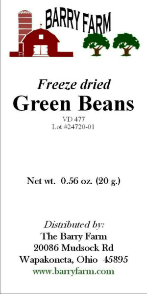 Green Beans Freeze Dried VD477