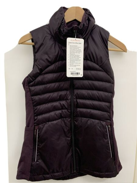 Lululemon Down For A Run Vest II NWT Size 6 BCHR Black Cherry Reflective $128.00