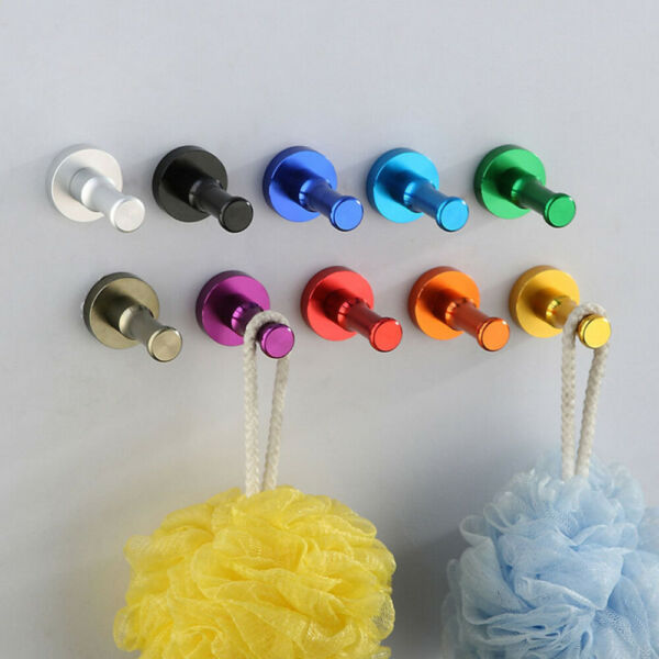 Round Space Aluminum Hooks Door Wall Mounted Hanging Hanger Multifuction Hooks $4.98