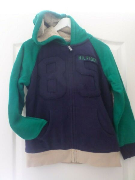 New with tags Tommy boys hoodie size large 12 14 color green blue $23.00