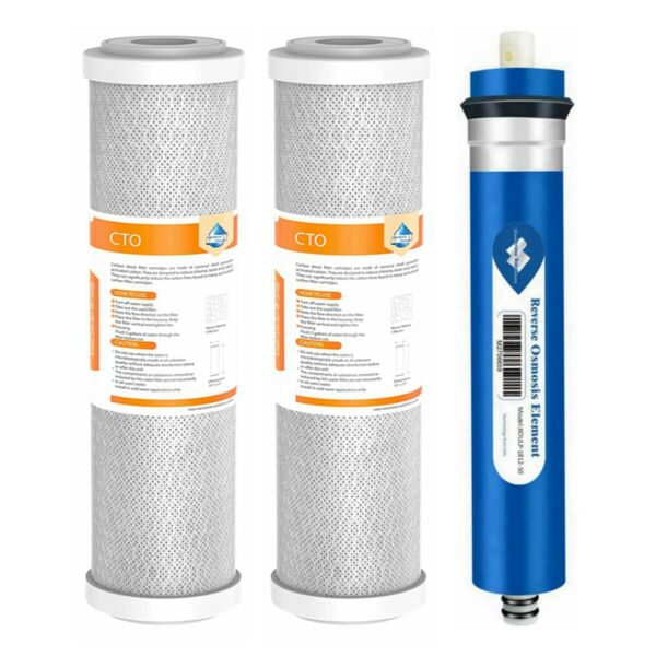 50GPD RO Carbon Filters Combo Pack for GE FX12M GXRM10RBL Reverse Osmosis System $25.99