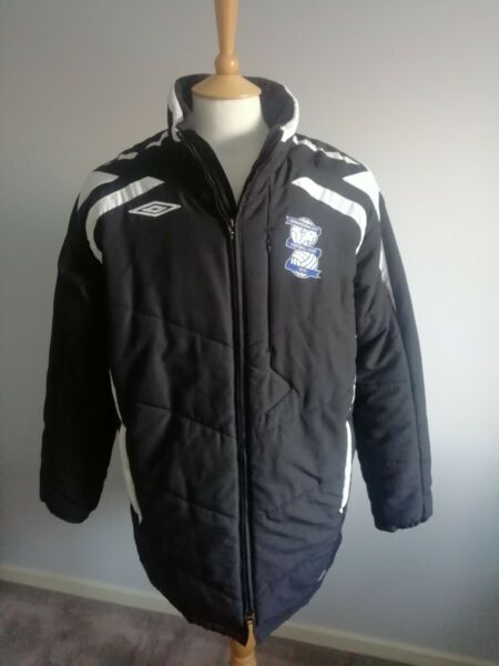 Birmingham City Football Club Black Bench Coat Size UK L 2007 2010 season