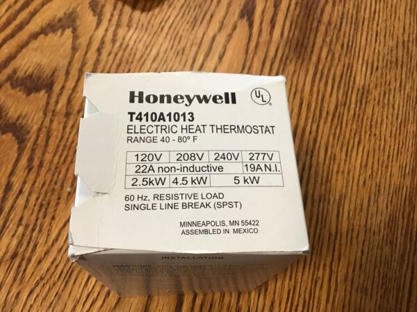 Honeywell T410A1013 Electric Baseboard Heat Thermostat $15.00