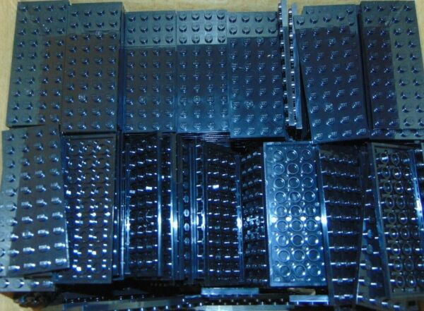 LEGO Lot of 10 Black 4 x 10 dot plates NEW