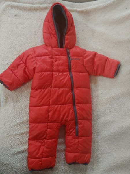 Columbia Snuggly Bunny Bunting Infant Down Snow Suit 6 12m Red