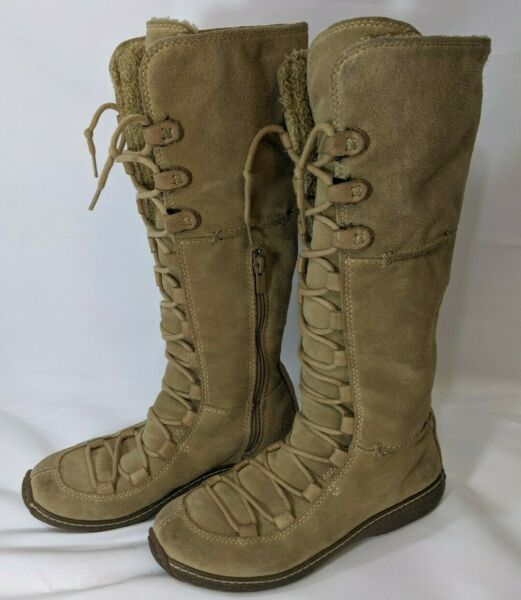 Timberland Womens Boots 6 M Suede Tan Tie Up $19.99