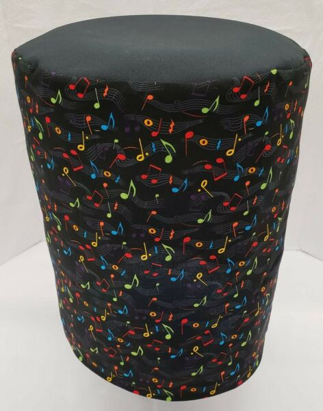 Music Notes on Black Day Water Bottle Cover 3 or 5 Gallon