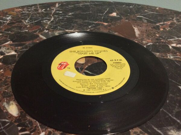 The Rolling Stones ‎Vinyl Record Single Start Me Up