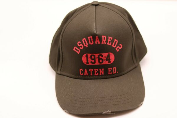 DSQUARED2 Green Caten CO 1964 Baseball Cap One Size 100% Authentic DS2 GBP 99.99