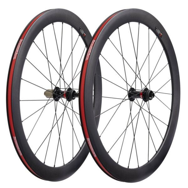 Carbon 700C clincher Wheels 50x25mm wide Center lock disc Brake gravel Bicycle $486.00