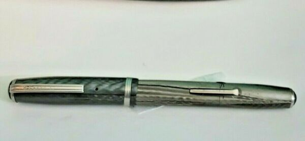 Vintage Silver Ripple Esterbrook Fountain Pen 2668 Nib Lever Fill Made in USA