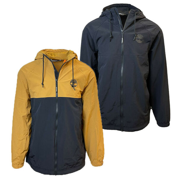 Timberland Men#x27;s Waterproof Hooded Lightweight Rain Jacket A2CEF $79.99
