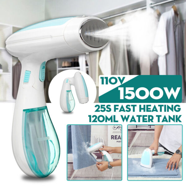 1500W 120ml Portable Steamer Fabric Clothes Garment Steam Iron Handheld Travel