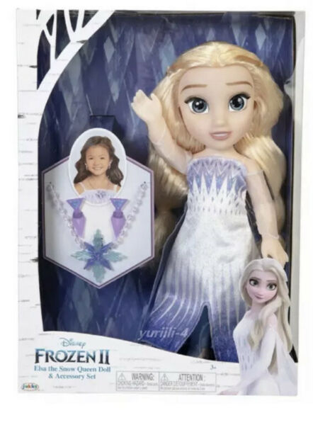 DISNEY FROZEN 2 SNOW QUEEN ELSA DOLL AND ACCESSORY SET NEW