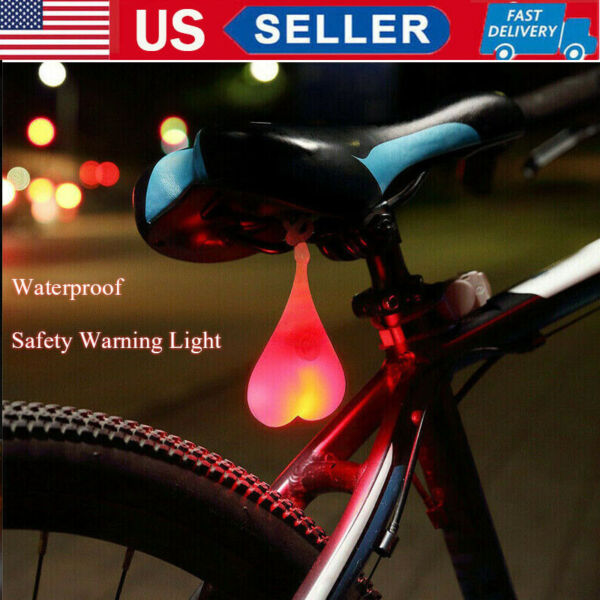 HOT Cycling LED Light Silicone Bicycle Back Rear Bike Tail Night Lamp Waterproof $6.69