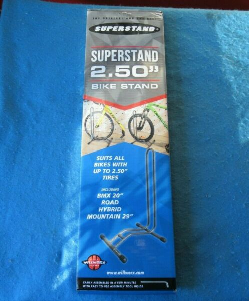 Willworx Superstand 2.50quot; Bike Stand in Gray New $50.00