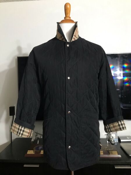 AUTH BURBERRY NOVA CHECK QUILTED MENS BARN JACKET COAT MEDIUM M MADE IN ENGLAND $195.00