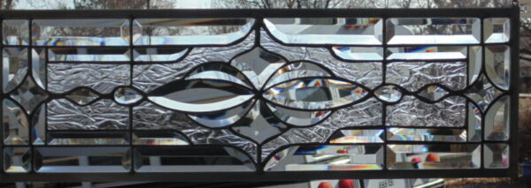 Stained Glass Transom window hanging 27 3 4 X 9 1 2