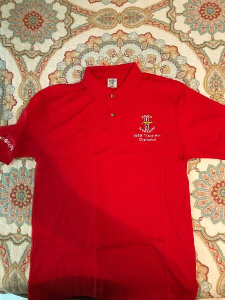 NEW VINTAGE FORD MUSTANG 1989 TRANS AM CHAMPIONSHIP POLO SHIRT