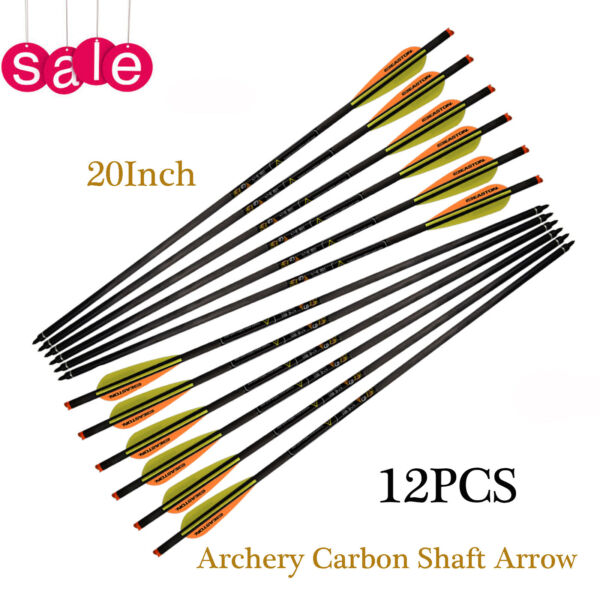 20quot; Easton Crossbow Bolts Arrow Pure Carbon Arrow Hunting Shooting Screw Tip 12P $55.99