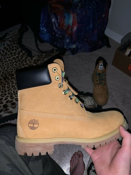Bape xUndefeated x Timberland Size 9.5 Authentic A Bathing Ape C $400.00