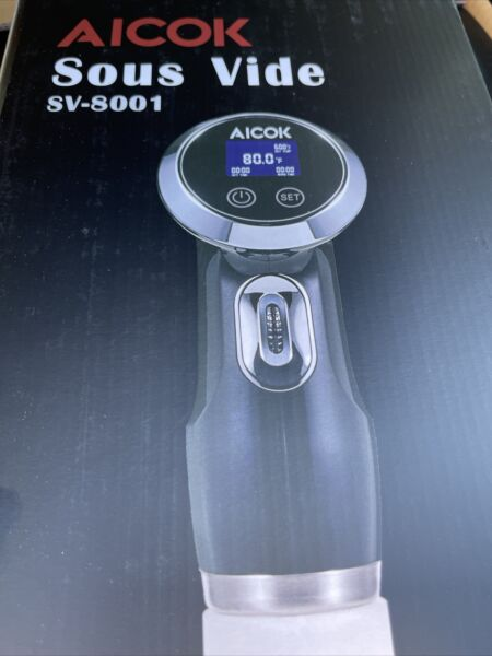 Sous Vide Aicok SV 8001 1000w Stainless Steel Slow Cooker.