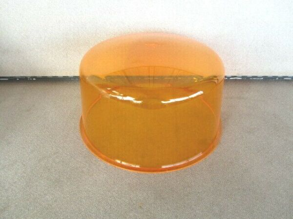 FEDERAL SIGNAL 184 DIETZ 211 711 AMBER BEACON LIGHT ROTATING REVOLVING DOME LENS