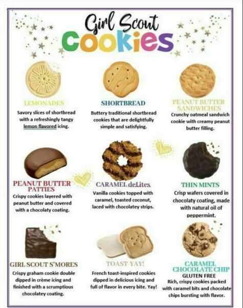 💕2021 GIRL SCOUT COOKIES MUST BUY SIX 6 or MORE BOXES Your Choice ABC Bakers