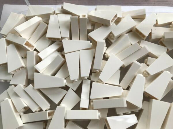 LEGO NEW #4460 WHITE SLOPE OPEN STUD 75 2 X 1 X 3 ROOF 50 PIECES $2.99