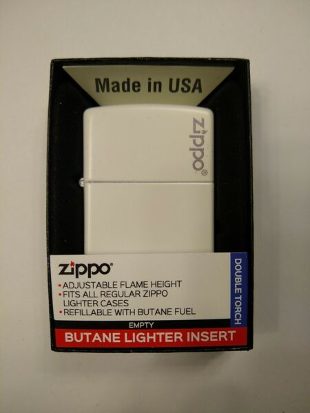 Zippo White Matte Finish 214zl with double torch butane lighter adjustable $30.95