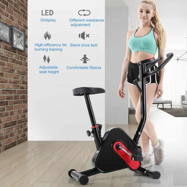 Indoor Exercise Bike Sports Bicycle Fitness Equipment Home Gym Workout with LCD $89.98