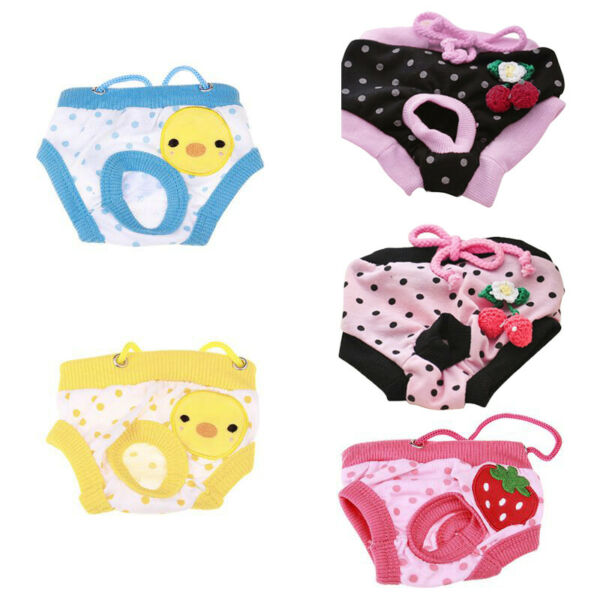 Pet Female Small Dog Sanitary Panties Cat Puppy Pants Short Diaper Underwear S L $8.45