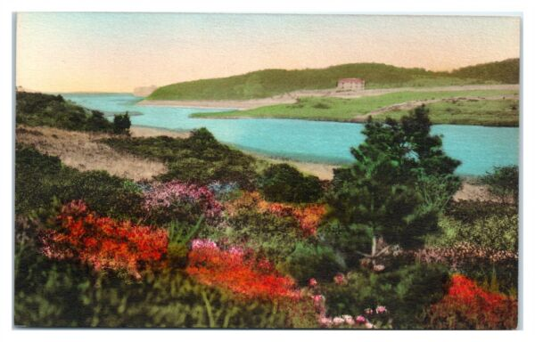 Pleasant Bay Inlet Chatham Cape Cod MA Hand Colored Postcard *6V 2 12