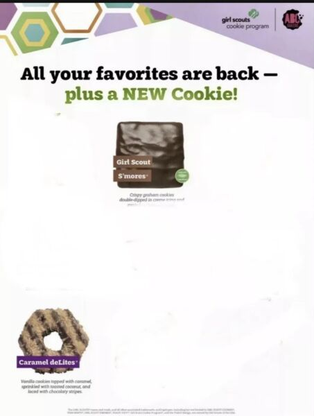 2021 GIRL SCOUT COOKIES ABC BAKERS... FREE SHIPPING MUST BUY 3 OR MORE