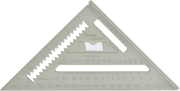 Johnson Level RAS 1 Johnny Square Aluminum Rafter Angle Square 7quot;