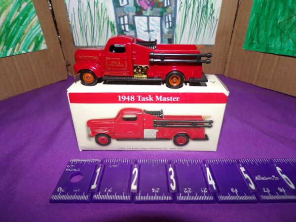 "Readers Digest 1948 Task Master 3.75"" Die Cast Fire Truck Collectible 1999 NIB"
