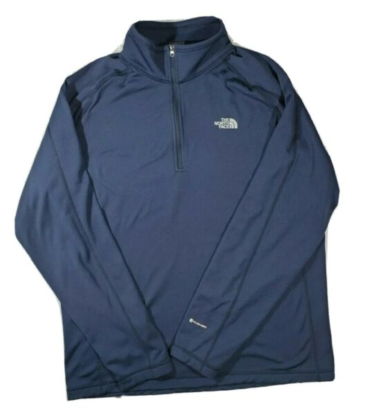 Mens The North Face half zip pullover flash dry blue jacket large $35.00