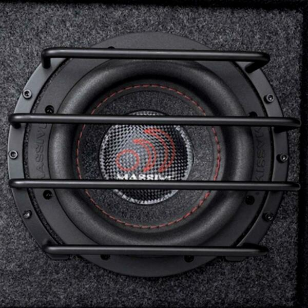 Massive Audio GRILL10 10quot; Deep Set Anodized Steel Protective Subwoofer Grill