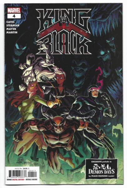King in Black #4 2021 1st Print Stegman Main Cover Marvel Comic Demon Days Cates