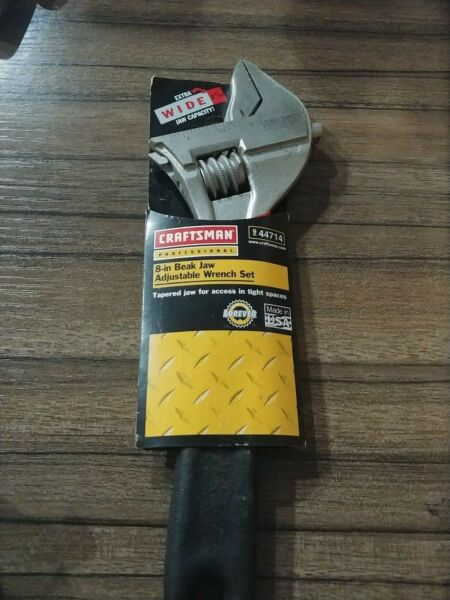 "Craftsman Professional 8"" Beak Jaw Adjustable Wrench USA WF 44714 RARE NEW"